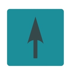 Arrow axis y flat soft blue colors rounded button vector
