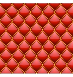 Red with gold quilted leather seamless background vector