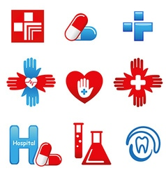 MedicalIcons vector image