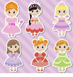 Big set of beautiful princesses vector