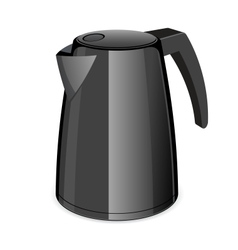 An isolated black electric tea kettle vector
