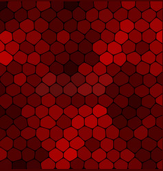 abstract mosaic red stone on a black background vector image vector image