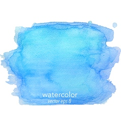 Abstract watercolor hand paint blue texture vector