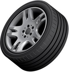 Aluminium alloy wheel vector