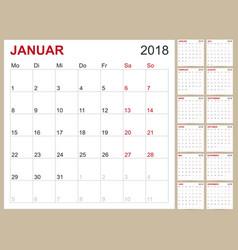 calendar 2018 vector image vector image