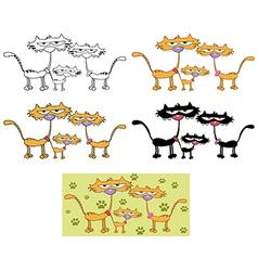 Cartoon cat design vector image vector image