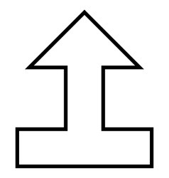 Connect arrow up thin line icon vector