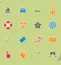 Cruise simply icons vector