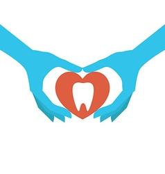 Dental health concept vector image