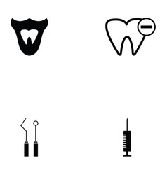 Dentist icon set vector