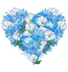Heart from flowers vector image