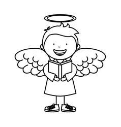 Little boy angel character vector