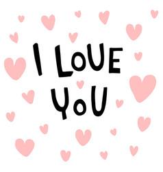 Love you vector