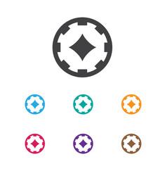 Of gambling symbol on poker vector