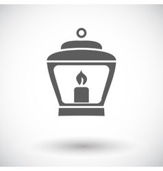 Old lantern vector image vector image
