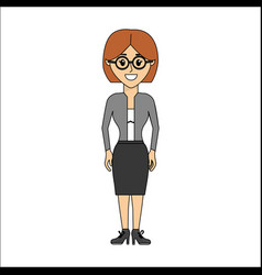 People woman with casual cloth and glasses avatar vector
