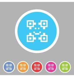 Qr code icon flat web sign symbol logo label vector