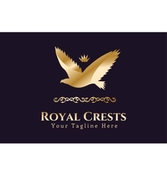 Royal logo Eagle Kings symbol vector image