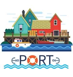 Sea Port vector image vector image