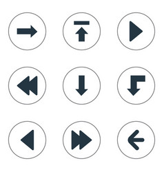 set of 9 simple arrows icons can be found such vector image vector image