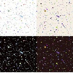Set of seamless paint splatter pattern vector