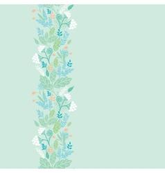 Spring berries vertical seamless pattern vector image vector image