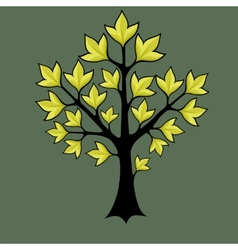 spring trees with green leaves vector image