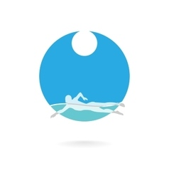 Swimmer logo design element vector