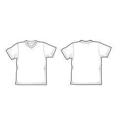 T-shirt v-neck vector