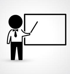 Teacher with blackboard icon vector image vector image