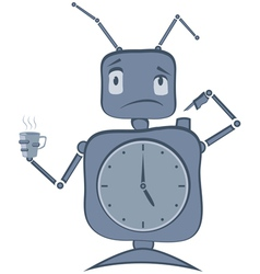 Robot clock vector