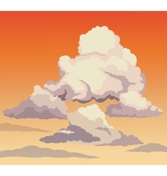 Beautiful sky sunset clouds vector