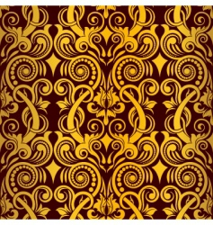 Gold seamless wallpaper vector