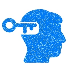 Intellect key grainy texture icon vector