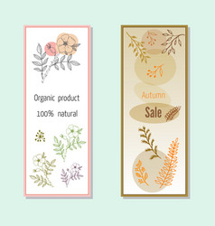 autumn sales banners vector image