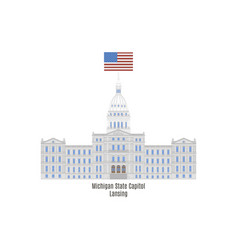 Michigan state capitol vector
