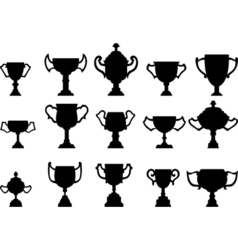 Silhouettes of trophies - vector