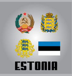 Official government elements of estonia vector