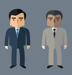 business people flat design vector image
