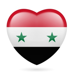 Heart icon of syria vector