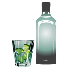 Gin and tonic vector