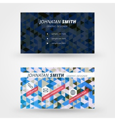 Creative business card design print templat vector