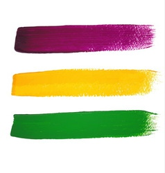 Mardi Gras watercolor brush strokes vector image