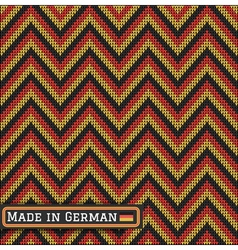 Knitting german colors pattern sweater battlement vector
