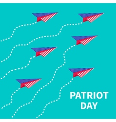 Six planes patriot day flat vector