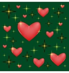 Star heart vector image