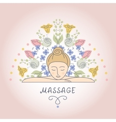 Massage and relaxation vector