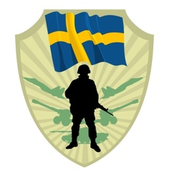 Army of Sweden vector image
