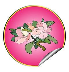apple flower sticker purple vector image vector image