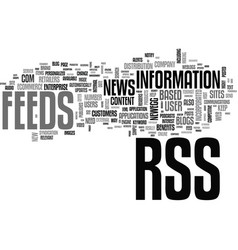 Benefits of rss in ecommerce text word cloud vector